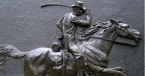 Irish Colonel Minty's Union cavalry were memorialized after the battle.