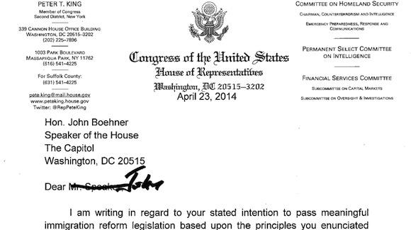Dear John, Please pass immigration reform!