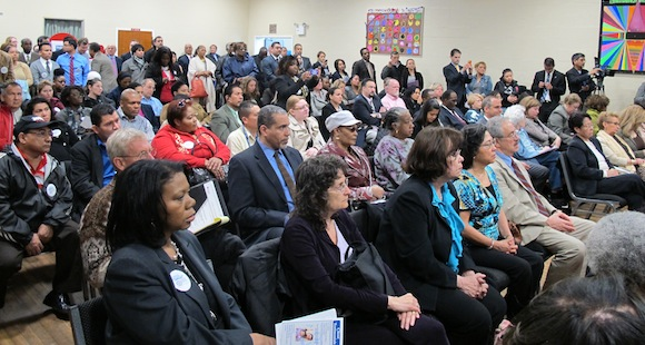 Hempstead residents learn that 100,000 legal permanent residents will now have a pathway to citizenship.