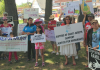 Long Islanders rallied in June to ask Pres. Obama to issue an Executive Order on immigration.