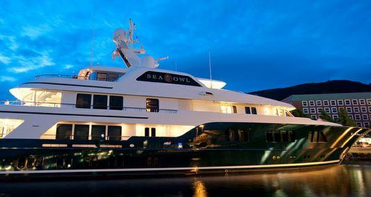 Robert Mercer's yacht the Sea Owl has a crew of 18.