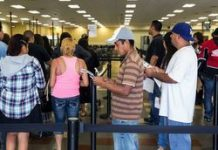 Immigrants in California applying for licenses.