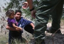 Fewer children are arrested coming into the United States because they are now being arrested in Mexico.