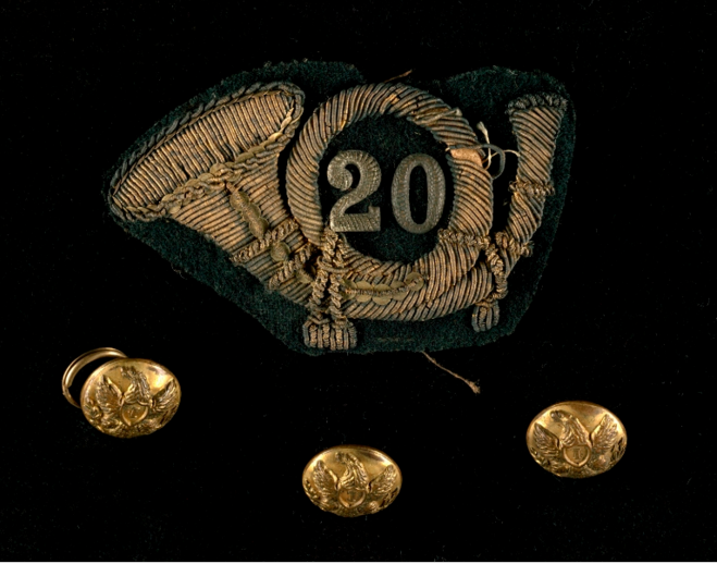 20th-mass-hat-insignia-and-buttons