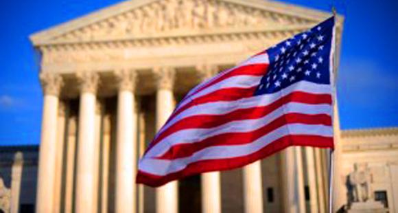 Supreme Court and flag