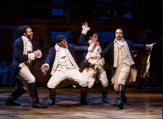 The musical Hamilton brings an immigrant story to the stage.