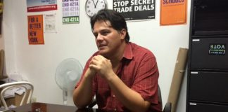 Lucas Sanchez at his office in Hempstead.