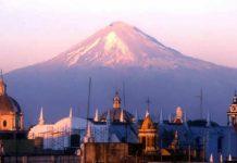 puebla iglesias volcano