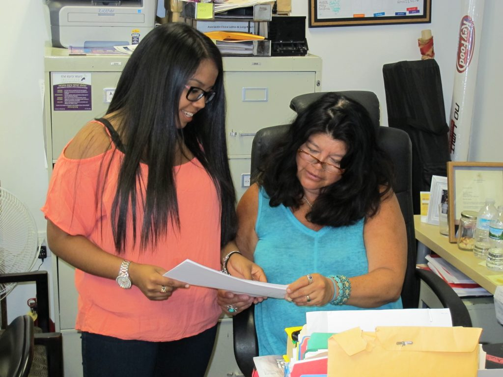 As program director at LBLCA, Nelly Romero coordinates services to assist students. Photo: LIW.