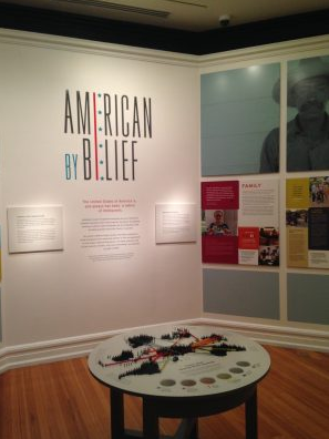 Americans by Belief exhibit looks at Lincoln and Immigrants.