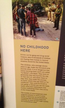 Part of the exhibit on Lincoln and immigration.