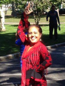 Dancer at Westbury's Hispanic Heritage Festival.