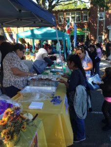 Latin food was part of the fun at Hispanic Heritage celebration.