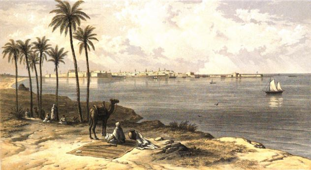 Tripoli in 1860 Source: http://history.ly/en/paintings-of-libyan-cities-between-1860-and-1861/
