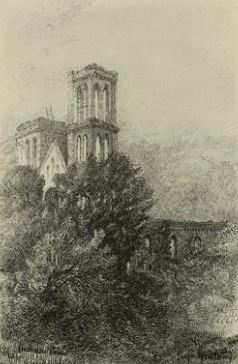 Engraving of the Church of the Puritans in 1868.