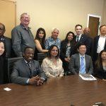 Comptroller meeting advocates