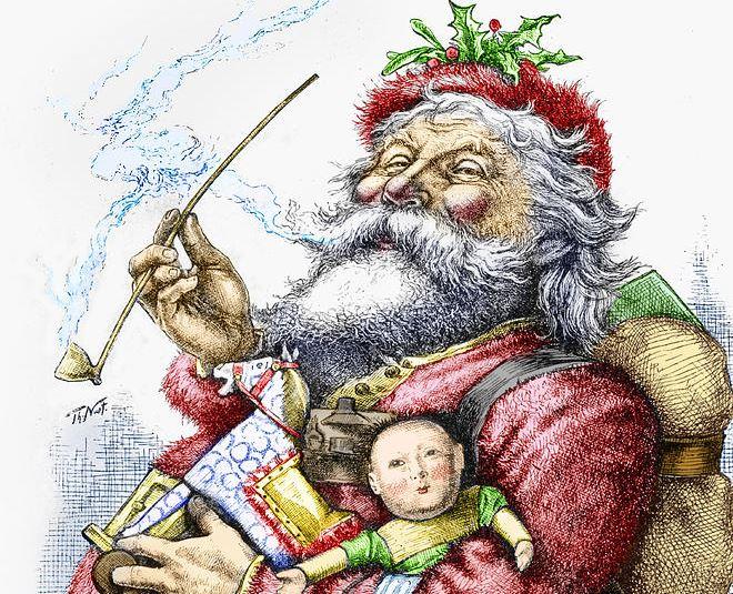 Image result for image of thomas nast santa claus